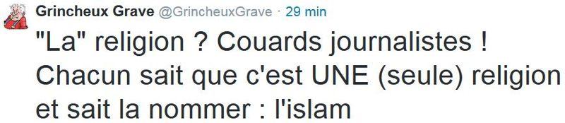 Tweet - le Parisien -Quand la religion s'invite au travail - 21.04.2015
