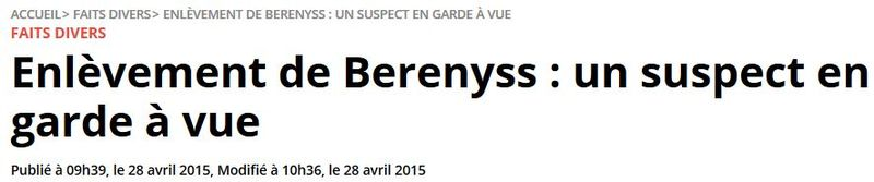 Enlèvement de Berenyss-28.04.2015