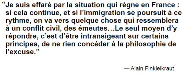 Alain Finkielkraut déclaration 2 mars 2015