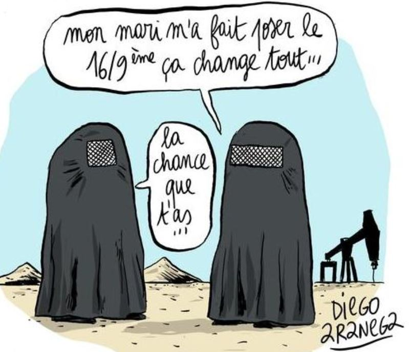 Burqa - écran dimension 16 par 9