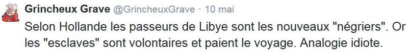 TWEET-Hollande et les négriers de Méditerranée-mai 2015