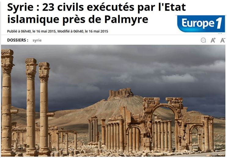 Syrie 23 otages exécutés - Europe1- 16.05.2015
