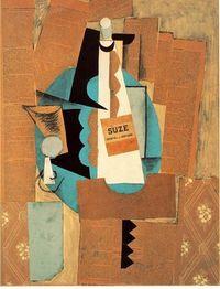 Picasso - 1912 - Verre et bouteille de Suze