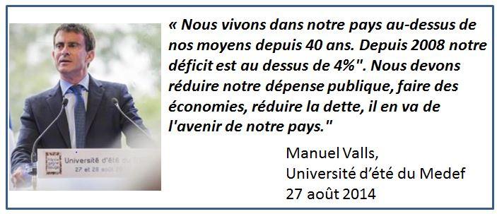 Manuel Valls - Université d'été Medef - 27.08.2014