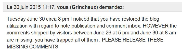 TypePad - please release the missing comments - 30 june  2015