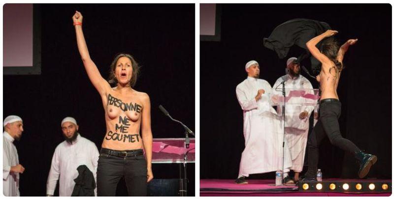 FEMEN à Pontoise-12.09.2015