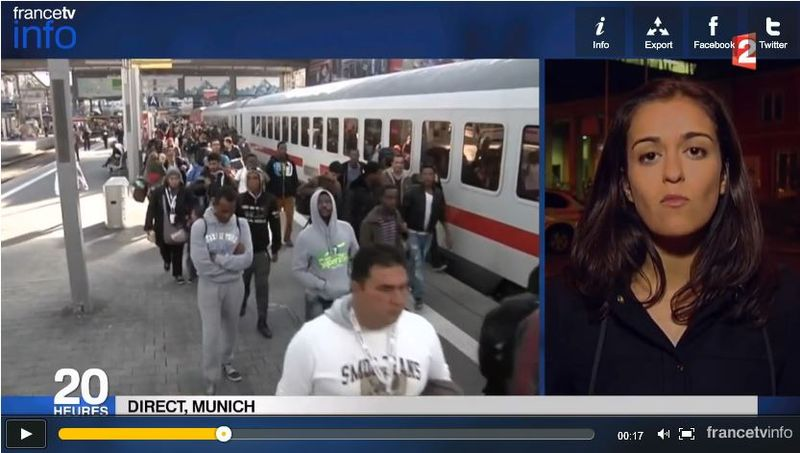 Migrants arrivant à Munich-JT FR2 14.09.2015