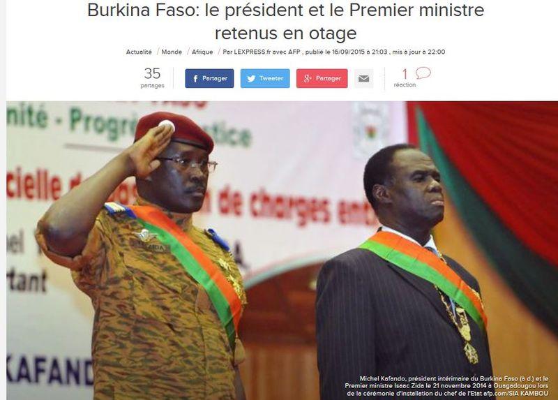 Burkina Faso - Coup d'Etat du 16.09.2015