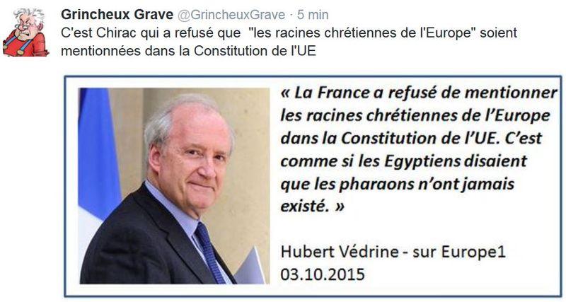 TWETT GG-Hubert Védrine-racines chrétiennes-03.10.2015