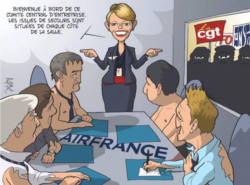 Air France-Bienvenue au comité central d'entreprise