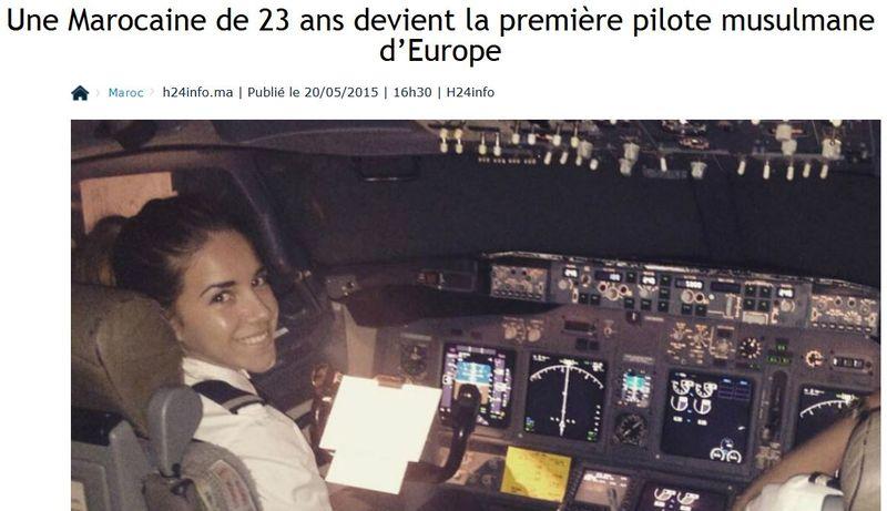 1ère pilote musulmane d'Europe-20.10.2015