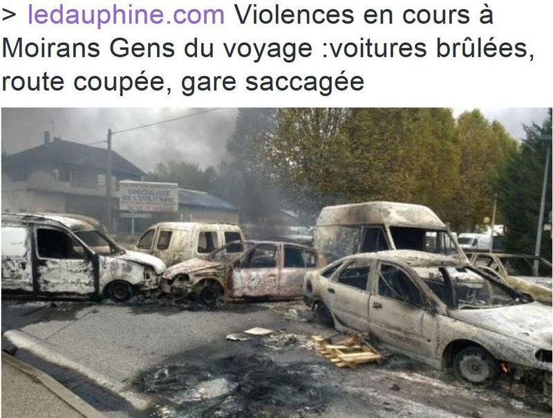 Moirans ville saccagée par les gens du voyage-20.10.2015