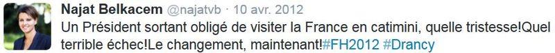 TWEET de Belkacem le 12.04.2012