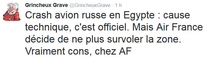 TWEET GG-crash avion russe en Egypte-30.10.2015
