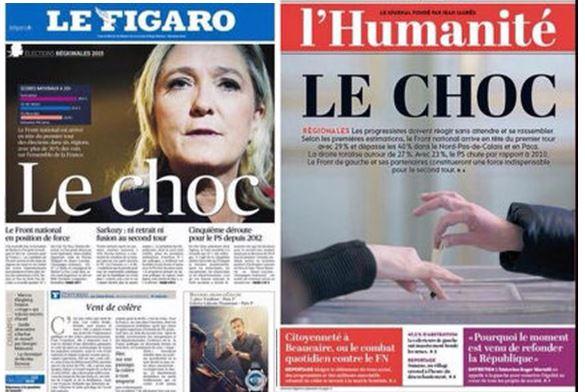 Le choc-L'Humanité-Le Figaro-07.12.2015