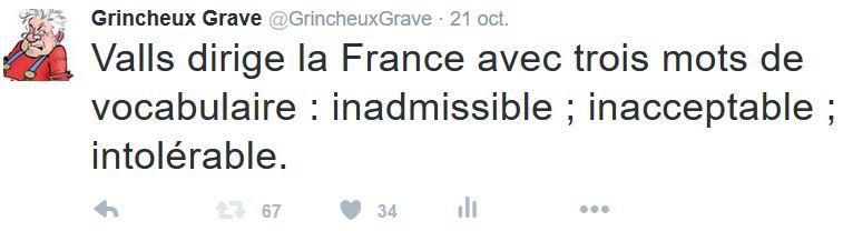 TWEET GG-Valls dirige la France avec trois mots de vocabulaire-21.10.2015