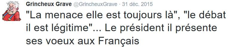 TWEET GG - Voeux Hollande 2016