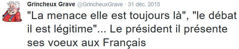 TWEET GG - Voeux Hollande 2016