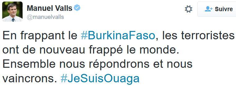 TWEET-Manuel Valls - je suis ouaga-16.01.2016