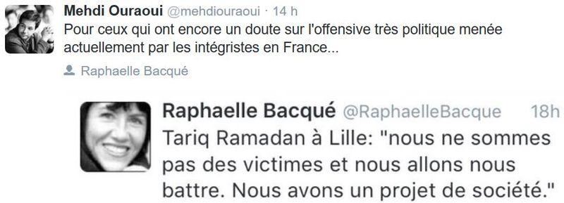 TWEET-Raphaëlle Bacqué-Tariq Ramadan-08.02.2016