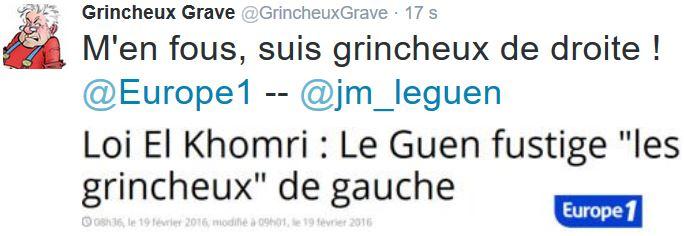 TWEET GG-Le Guen fustige les grincheux-19.02.2016