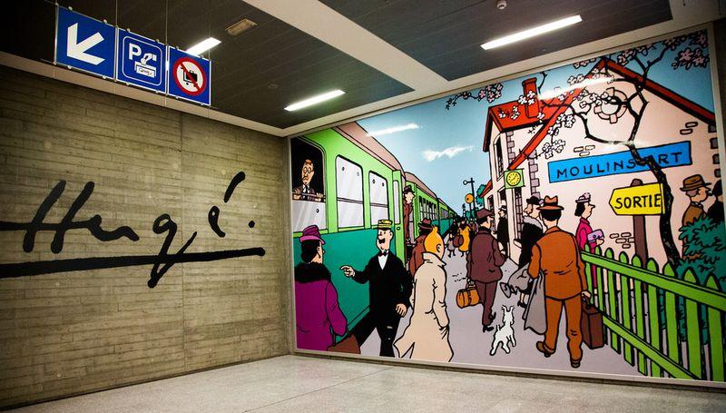 Tintin gare du Midi Bruxelles