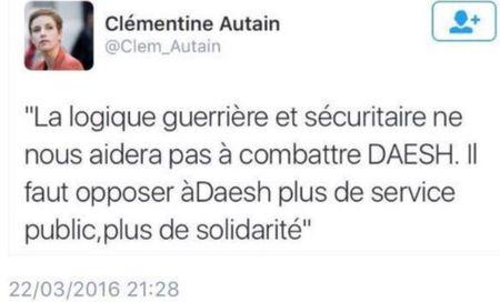 TWEET-Clémentine Autain - 22.03.2016