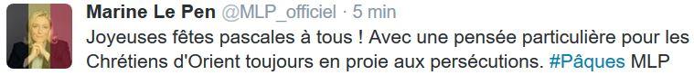 Marine Le Pen-Joyeuses Fêtes pascales-27.03.20216