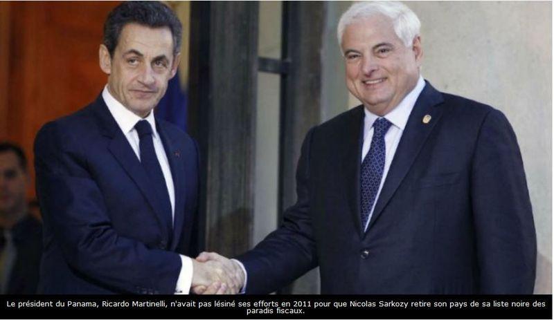 Sarkozy et le président du Panama en 2011