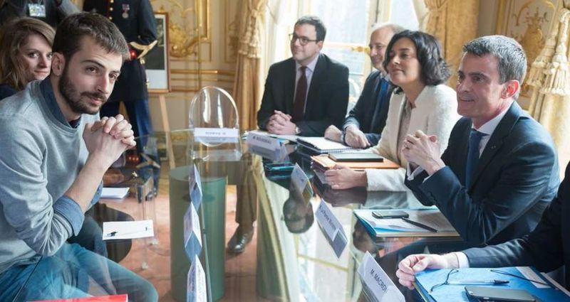 UNEF expose ses réclamations à Valls pour la Loi Travail-05.04.2016