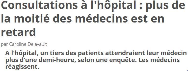 Plus de la moitié des médecins est en retard
