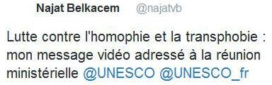 Tweet Belkacem - Homophie - 18.05.2016
