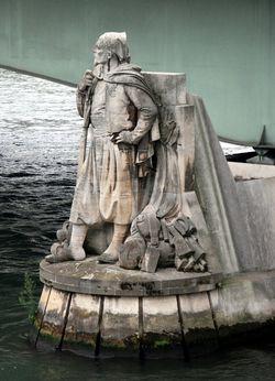 Le zouave du pont de l'Alma en eaux basses