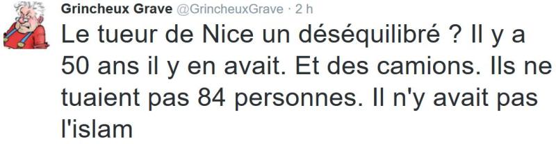 TWEET GG-tueur Nice déséquilibré-16.07.2016