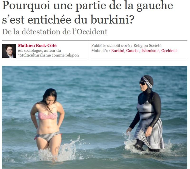 TITRE de CAUSEUR - Pourquoi une partie de la gauche s'est entichée du burkini - août 2016