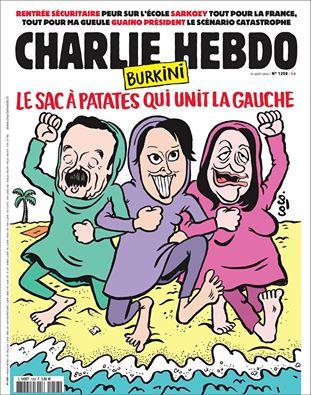 Charlie Hebdo-Burkini le sac à papates qui unit la gauche-30.08.2016