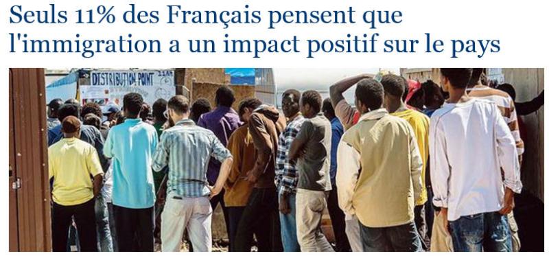 Immigration-Seuls 11% des Français estiment son impact positif-LE FIGARO-02.09.2016 - Copie (2)
