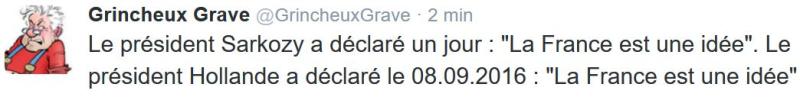 Sarkozy-Hollande-La France est une idée