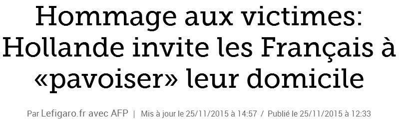 Hollande invite les Français à pavoiser