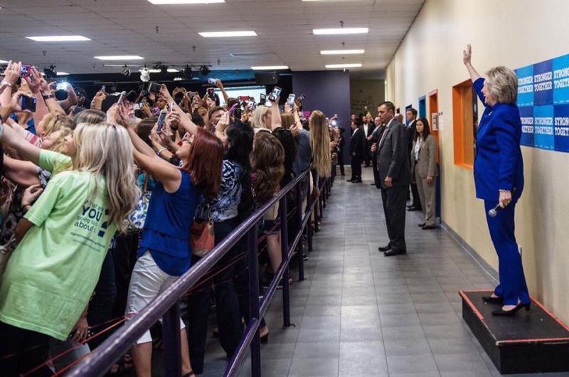 Selfie Hillary Clinton