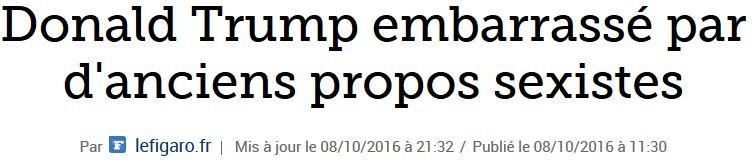 Donald Trump propos sexistes-Le Figaro-oct 2016