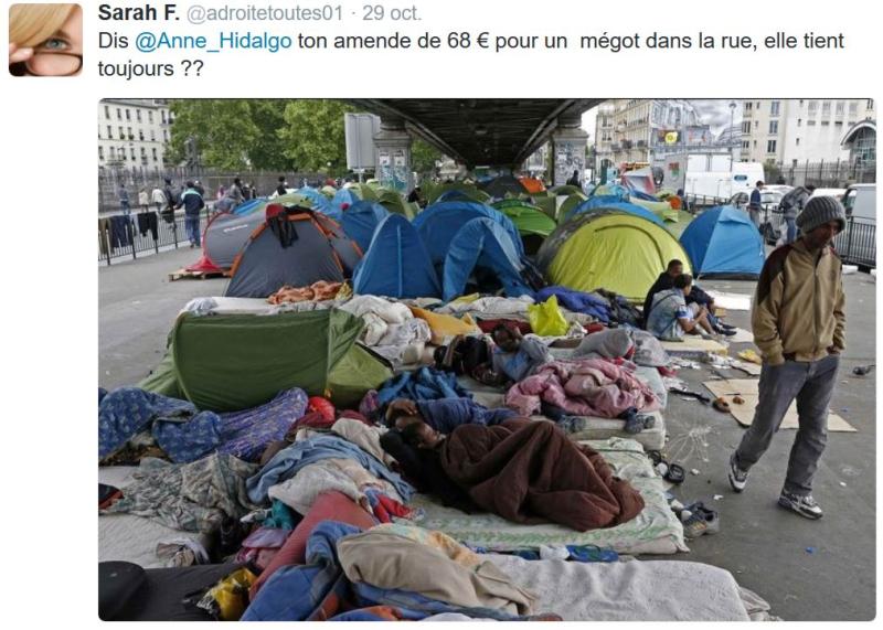 Anne Hidalgo - Amernde pour un mégot dans la rue