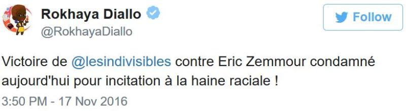 Rokhaya Diallo sur Eric Zemmour