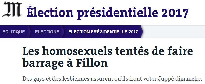 Homosexuels contre Fillon