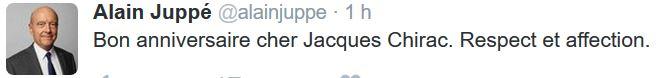 TWEET-Juppé-Bon anniversaire Chirac-29.11.2016