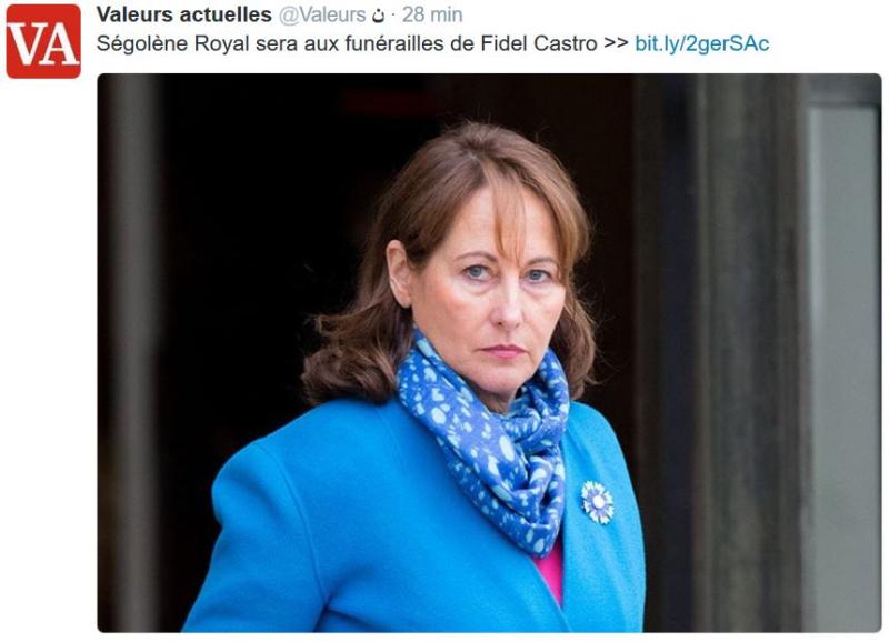 Ségolène Royal aux funérailles de Fidel Castro-VA