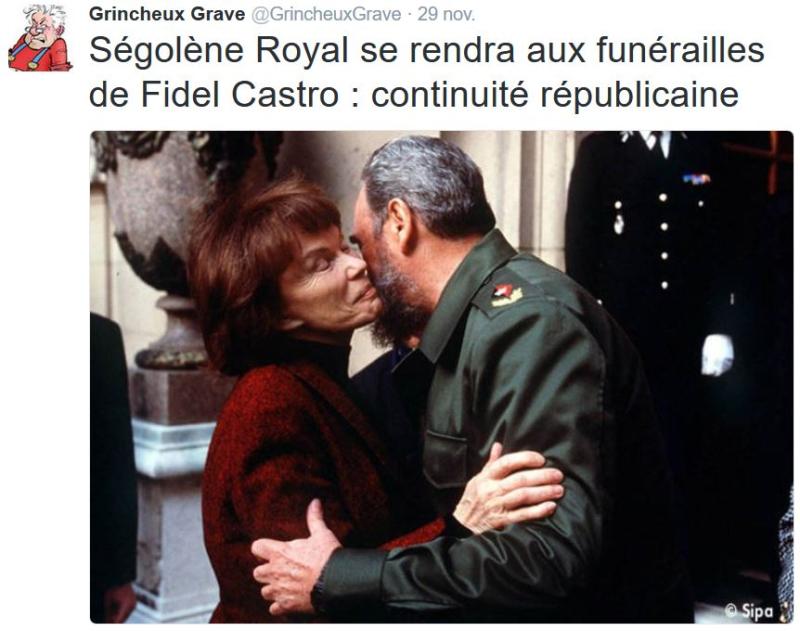 TWEET-Royal à Cuba - continuité républicaine- novembre 2016