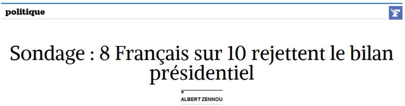 LE FIGARO-8 sur 10 rejettent le bilan Hollande-05.12.2016