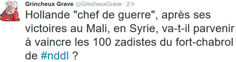 TWEET GG-Hollande et les zadistes-10.12.2016