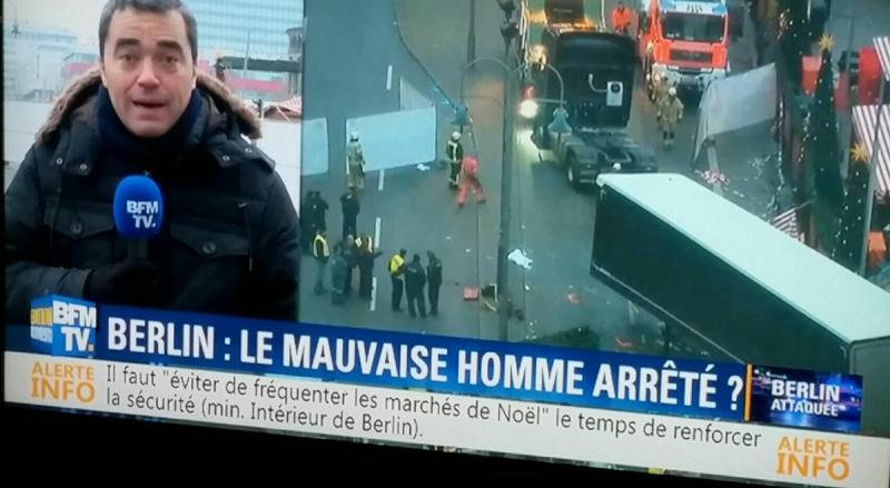 BFMTV - Berlin le vauvaise homme arrêté-21.12.2016